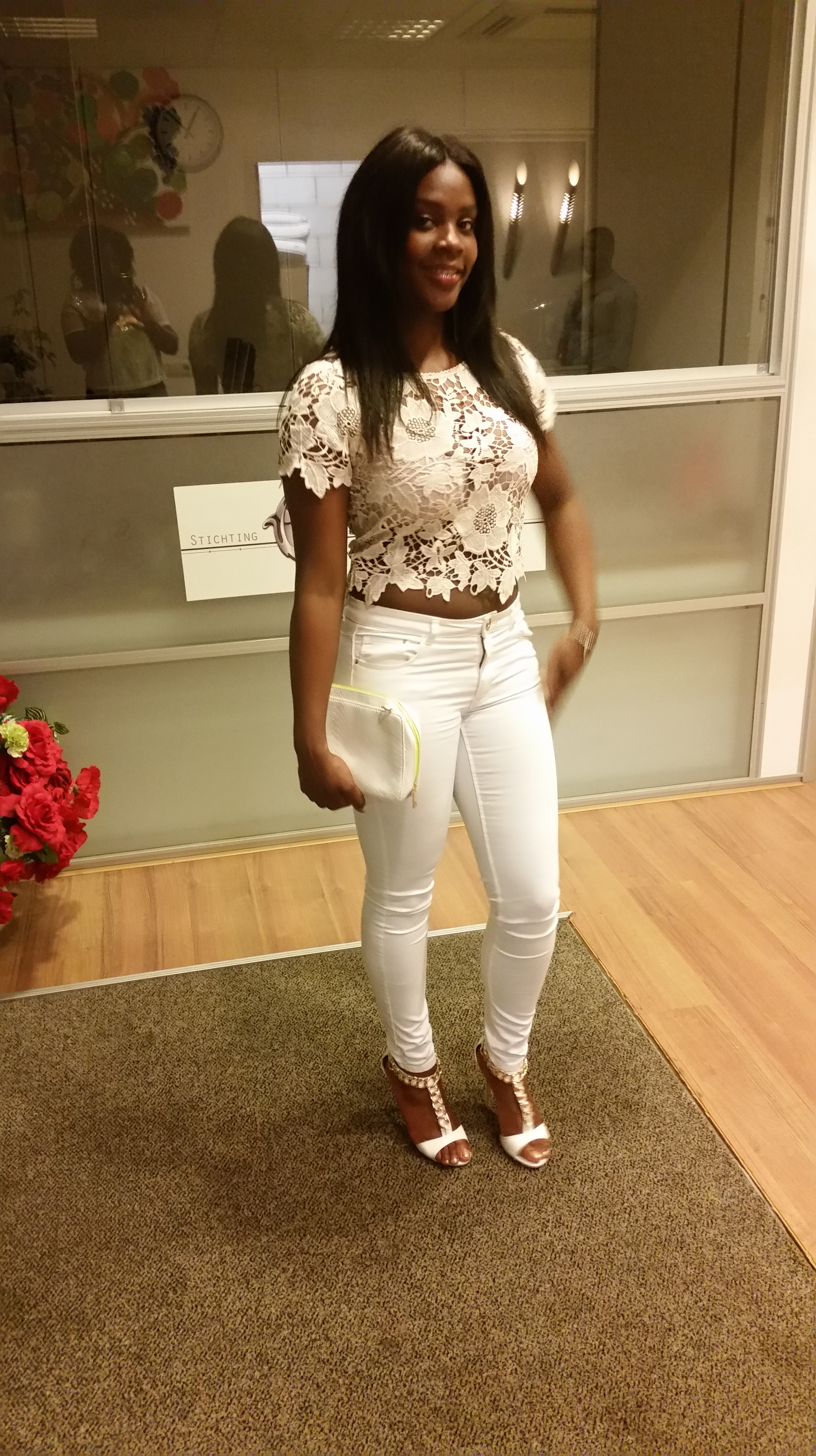 Wpid White Skinny Jeans With Heels